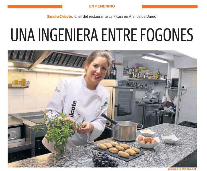Sandra Chicote en El Norte de Castilla
